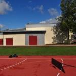 Ansicht Sporthalle mit Geräteraum
